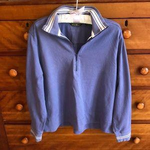 Eddie Bauer 1/2 Zip Striped Pullover